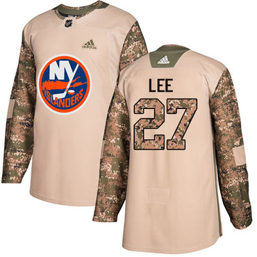 Adidas Islanders #27 Anders Lee Camo Authentic 2017 Veterans Day Stitched Youth NHL Jersey