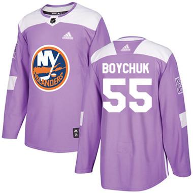 Adidas Islanders #55 Johnny Boychuk Purple Authentic Fights Cancer Stitched NHL Jersey