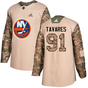 Adidas Islanders #91 John Tavares Camo Authentic 2017 Veterans Day Stitched Youth NHL Jersey