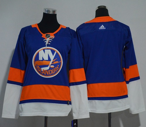 Adidas Islanders Blank Royal Blue Home Authentic Women's Stitched NHL Jersey