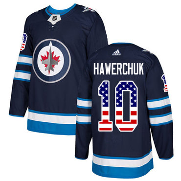 Adidas Jets #10 Dale Hawerchuk Navy Blue Home Authentic USA Flag Stitched NHL Jersey