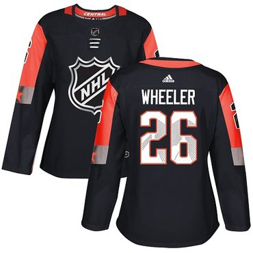 Adidas Jets #26 Blake Wheeler Black 2018 All-Star Central Division Authentic Women's Stitched NHL Jersey