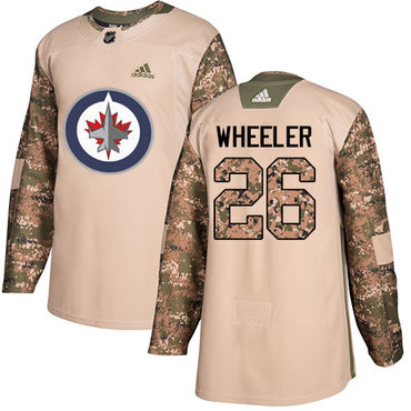 Adidas Jets #26 Blake Wheeler Camo Authentic 2017 Veterans Day Stitched Youth NHL Jersey