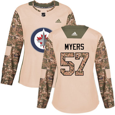 Adidas Jets #57 Tyler Myers Camo Authentic 2017 Veterans Day Women's Stitched NHL Jersey