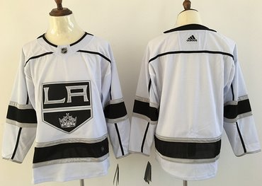 Adidas Kings Blank White Road Authentic Stitched NHL Jersey