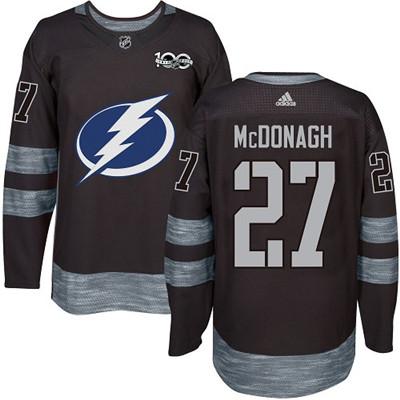 Adidas Lightning #27 Ryan McDonagh Black 1917-2017 100th Anniversary Stitched NHL Jersey