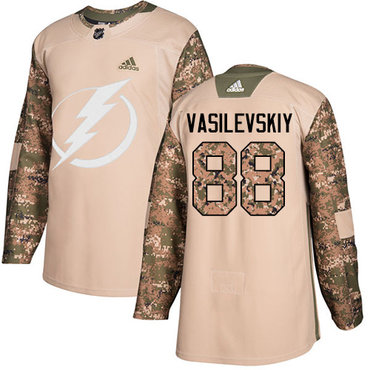 Adidas Lightning #88 Andrei Vasilevskiy Camo Authentic 2017 Veterans Day Stitched Youth NHL Jersey