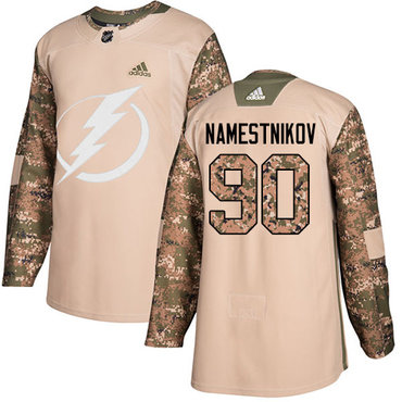 Adidas Lightning #90 Vladislav Namestnikov Camo Authentic 2017 Veterans Day Stitched Youth NHL Jersey