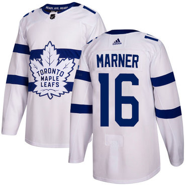 Adidas Maple Leafs #16 Mitchell Marner White Authentic 2018 Stadium Series Stitched NHL Jersey