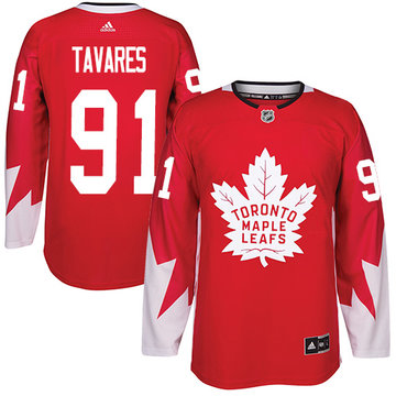 Adidas Maple Leafs #91 John Tavares Red Team Canada Authentic Stitched Youth NHL Jersey