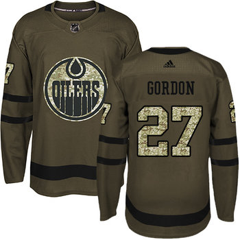 Adidas Oilers #27 Boyd Gordon Green Salute to Service Stitched NHL Jersey