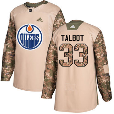 Adidas Oilers #33 Cam Talbot Camo Authentic 2017 Veterans Day Stitched Youth NHL Jersey