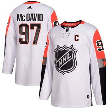 Adidas Oilers #97 Connor McDavid White 2018 All-Star Pacific Division Authentic Stitched NHL Jersey