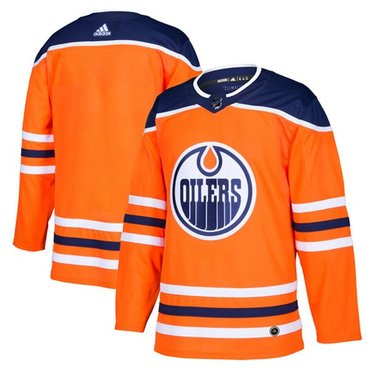 Adidas Oilers Blank Orange Home Authentic Stitched Youth NHL Jersey