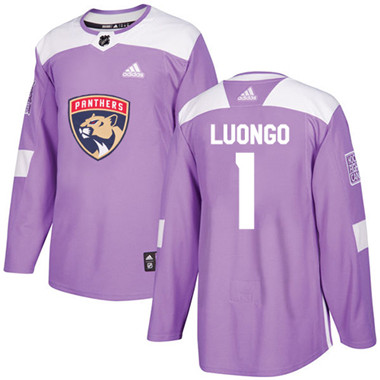 Adidas Panthers #1 Roberto Luongo Purple Authentic Fights Cancer Stitched NHL Jersey