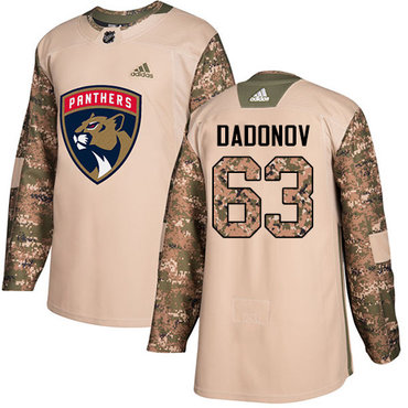 Adidas Panthers #63 Evgenii Dadonov Camo Authentic 2017 Veterans Day Stitched Youth NHL Jersey