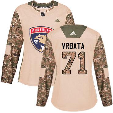 Adidas Panthers #71 Radim Vrbata Camo Authentic 2017 Veterans Day Women's Stitched NHL Jersey