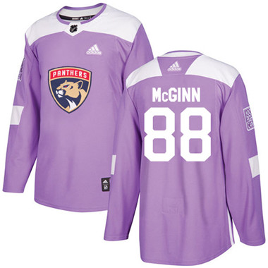 Adidas Panthers #88 Jamie McGinn Purple Authentic Fights Cancer Stitched NHL Jersey