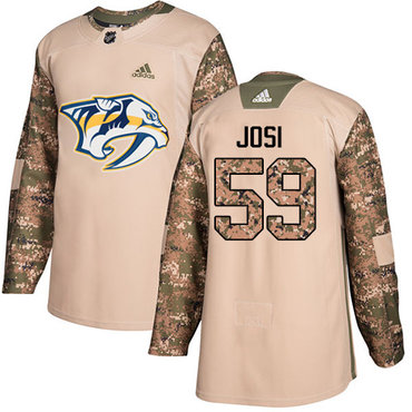 Adidas Predators #59 Roman Josi Camo Authentic 2017 Veterans Day Stitched Youth NHL Jersey