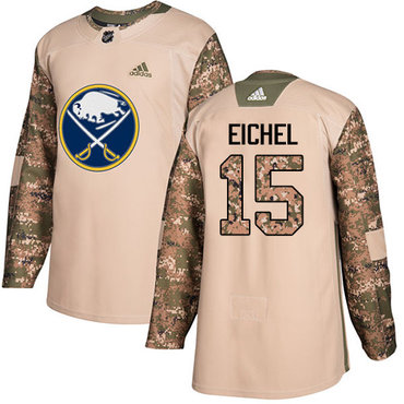 Adidas Sabres #15 Jack Eichel Camo Authentic 2017 Veterans Day Youth Stitched NHL Jersey
