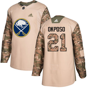 Adidas Sabres #21 Kyle Okposo Camo Authentic 2017 Veterans Day Youth Stitched NHL Jersey