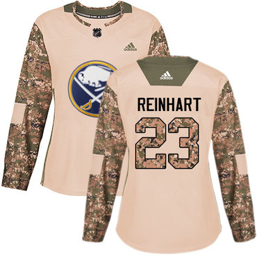 Adidas Sabres #23 Sam Reinhart Camo Authentic 2017 Veterans Day Women's Stitched NHL Jersey