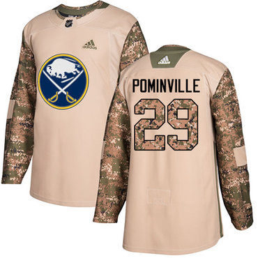 Adidas Sabres #29 Jason Pominville Camo Authentic 2017 Veterans Day Youth Stitched NHL Jersey