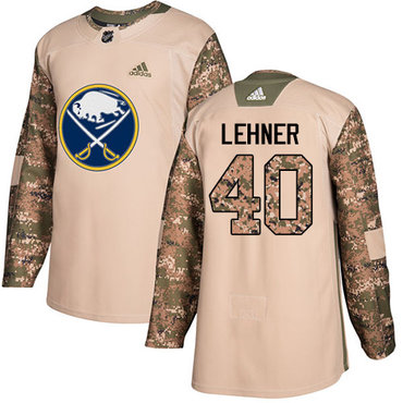Adidas Sabres #40 Robin Lehner Camo Authentic 2017 Veterans Day Youth Stitched NHL Jersey