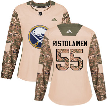 Adidas Sabres #55 Rasmus Ristolainen Camo Authentic 2017 Veterans Day Women's Stitched NHL Jersey