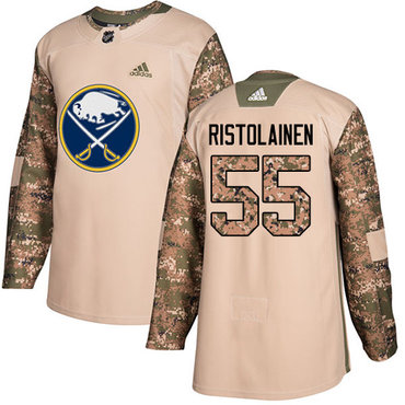 Adidas Sabres #55 Rasmus Ristolainen Camo Authentic 2017 Veterans Day Youth Stitched NHL Jersey