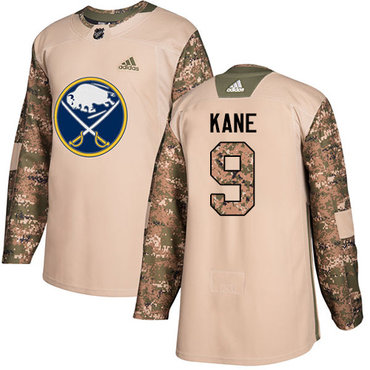 Adidas Sabres #9 Evander Kane Camo Authentic 2017 Veterans Day Youth Stitched NHL Jersey