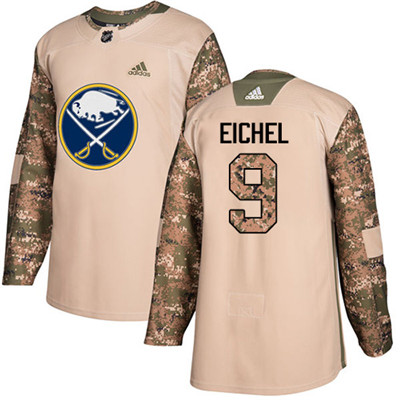 Adidas Sabres #9 Jack Eichel Camo Authentic 2017 Veterans Day Youth Stitched NHL Jersey