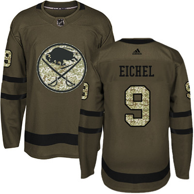 Adidas Sabres #9 Jack Eichel Green Salute to Service Youth Stitched NHL Jersey