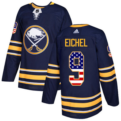 Adidas Sabres #9 Jack Eichel Navy Blue Home Authentic USA Flag Youth Stitched NHL Jersey
