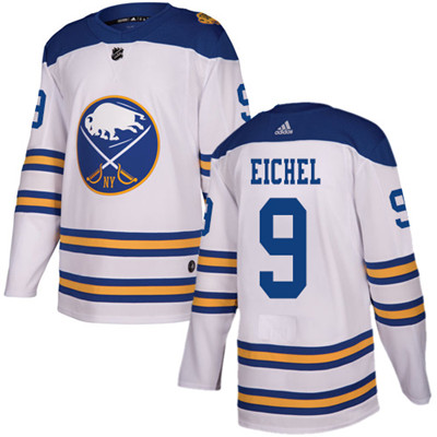 Adidas Sabres #9 Jack Eichel White Authentic 2018 Winter Classic Youth Stitched NHL Jersey