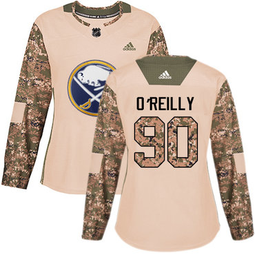 Adidas Sabres #90 Ryan O'Reilly Camo Authentic 2017 Veterans Day Women's Stitched NHL Jersey