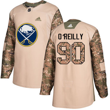 Adidas Sabres #90 Ryan O'Reilly Camo Authentic 2017 Veterans Day Youth Stitched NHL Jersey