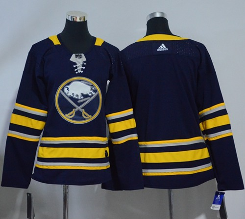 Adidas Sabres Blank Navy Blue Home Authentic Women's Stitched NHL Jersey