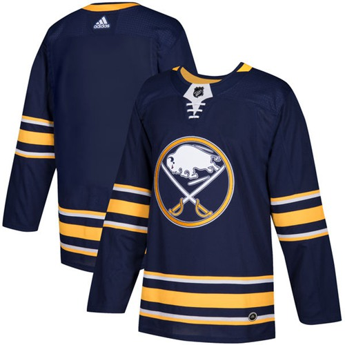 Adidas Sabres Blank Navy Blue Home Authentic Youth Stitched NHL Jersey