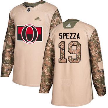 Adidas Senators #19 Jason Spezza Camo Authentic 2017 Veterans Day Stitched Youth NHL Jersey