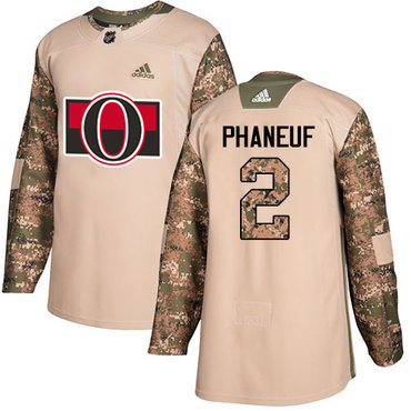 Adidas Senators #2 Dion Phaneuf Camo Authentic 2017 Veterans Day Stitched Youth NHL Jersey