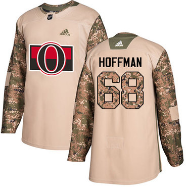 Adidas Senators #68 Mike Hoffman Camo Authentic 2017 Veterans Day Stitched Youth NHL Jersey