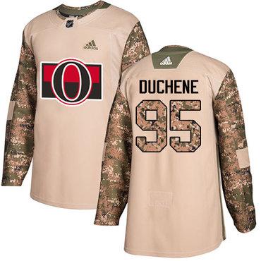 Adidas Senators #95 Matt Duchene Camo Authentic 2017 Veterans Day Stitched Youth NHL Jersey