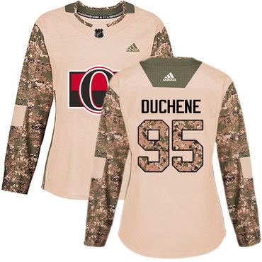Adidas Senators #95 Matt Duchene Camo Authentic 2017 Veterans Day Women's Stitched NHL Jersey