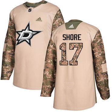 Adidas Stars #17 Devin Shore Camo Authentic 2017 Veterans Day Youth Stitched NHL Jersey