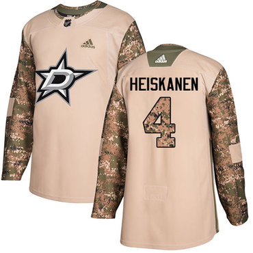 Adidas Stars #4 Miro Heiskanen Camo Authentic 2017 Veterans Day Youth Stitched NHL Jersey