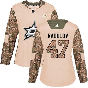 Adidas Stars #47 Alexander Radulov Camo Authentic 2017 Veterans Day Women's Stitched NHL Jersey