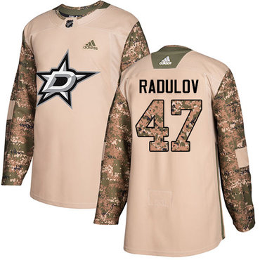 Adidas Stars #47 Alexander Radulov Camo Authentic 2017 Veterans Day Youth Stitched NHL Jersey