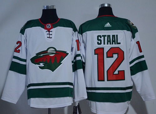 Adidas Wild #12 Eric Staal White Road Authentic Stitched NHL Jersey