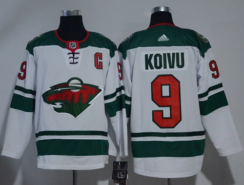 Adidas Wild #9 Mikko Koivu White Road Authentic Stitched NHL Jersey